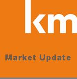 km logo market update